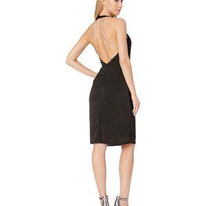Bebe Rhinestone Halter Dress NWT Size 10